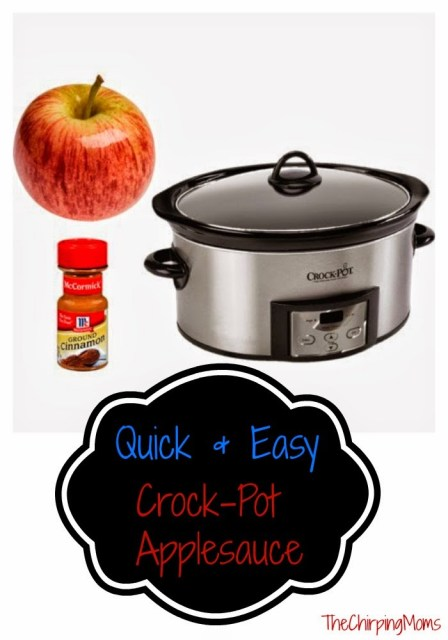 Quick & Easy Apple Sauce : The Chirping Moms