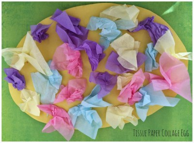 Tissue Paper Collage Egg || The Chirping Moms