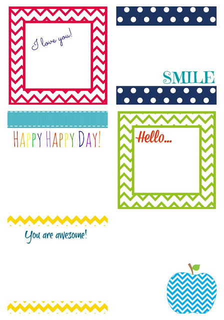 Free Printable Lunch Notes    The Chirping Moms
