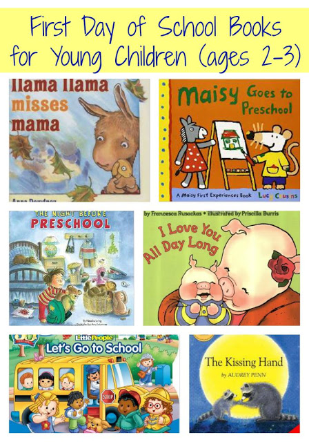 First Day of School Books for Young Children || The Chirping Moms