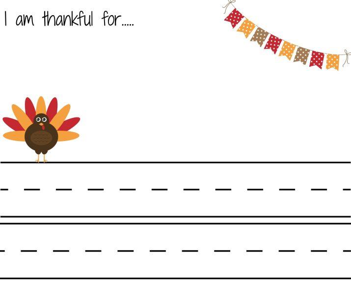 I am Thankful Thanksgiving Letter