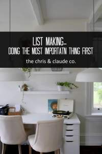 A Blog on making lists by TheChris&ClaudeCo.