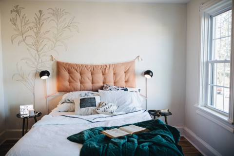 White Chalk Paint in this Renovated Bedroom