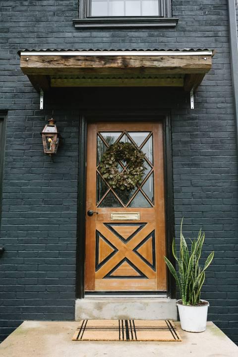 Creative Front Door in Lancaster City Home