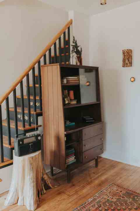 vintage bookcase in lancaster renovation