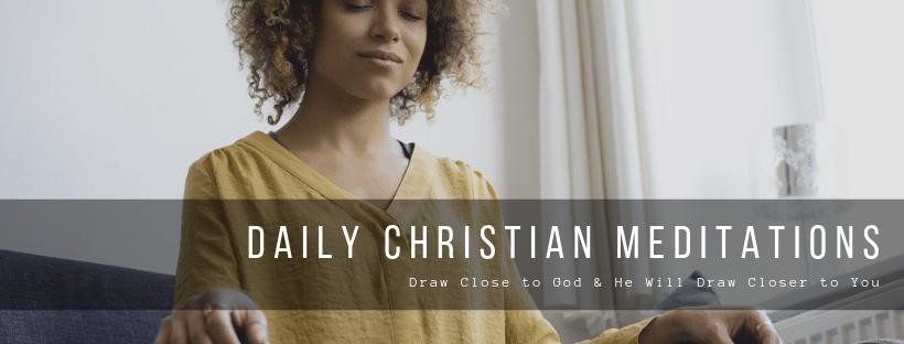 daily christian meditations