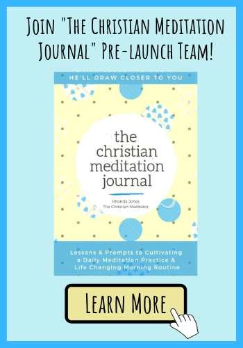 Christian meditation journal launch team