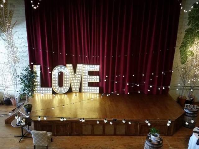 light up letter rentals love
