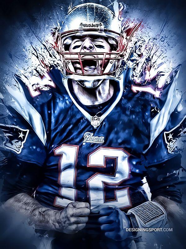 Tom Brady artwork by Matthew Sharpe