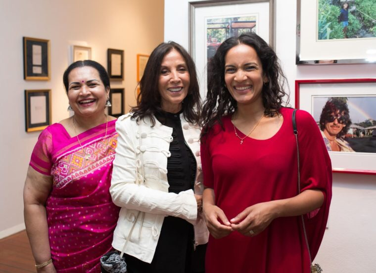 Olivia Harrison and Shankar Family