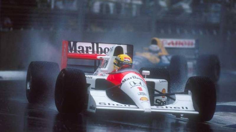 Senna racing in the rain