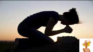 """""""Woman praying on Knees"""""""