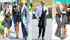 """Tom Hanks, Omarosa Manigault Stallworth and Holly Peete Robinson at Michael Clarke Duncan Funeral"""