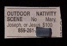 Nativity For Sale - Missing Jesus, Mary, and Joseph