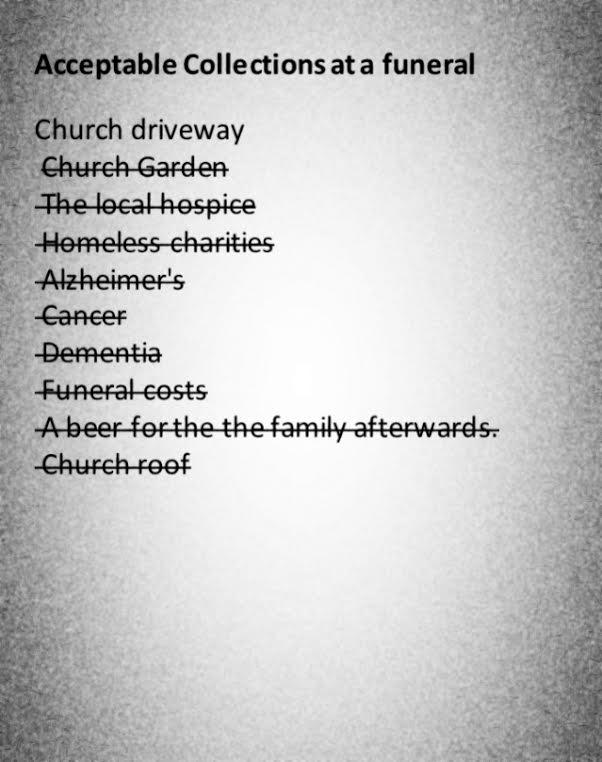 Acceptable Collections at a church funeral