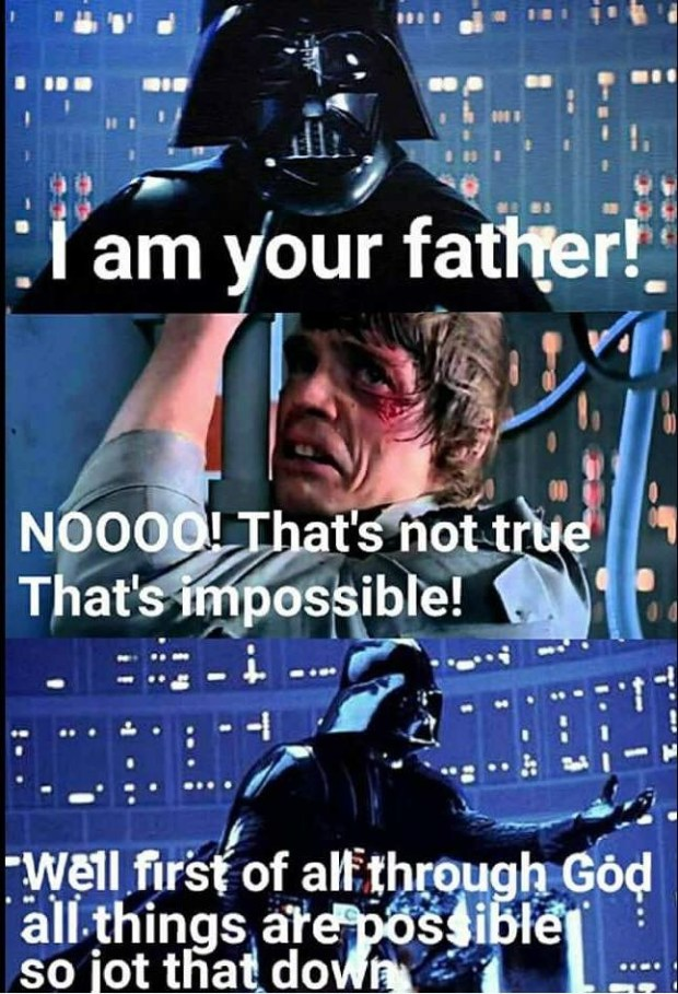 When Darth Vader Reads The Bible...
