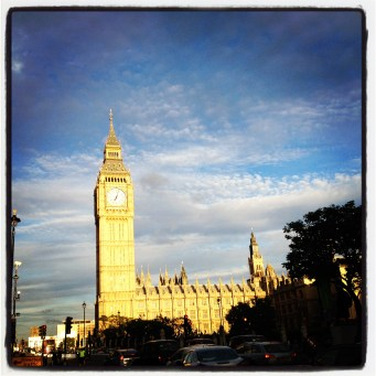Big Ben on a summer's day