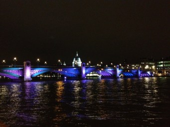 St Paul's Cathedral and Blackfriars Bridge, by night