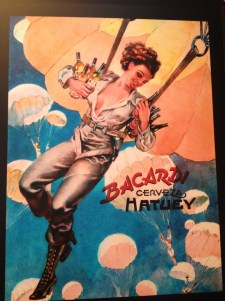 Some cool commercial posters in Casa de Bacardi