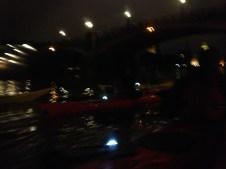 Kayaks in the night