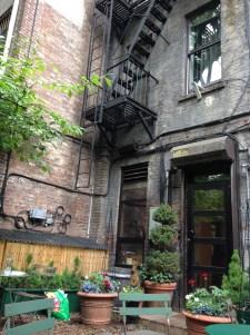 Gottino's garden in the West Village