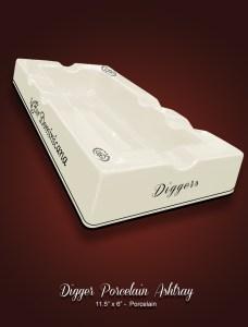 Digger Porcelain Ashtray