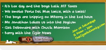 Webcast: Tripping With The Tax Man and Perla Del Mar Cigars