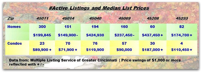 Greater Cincinnati Real Estate ZipCode Update 101613