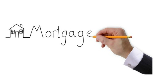 mortgage graph drawn by hand isolated on a white background