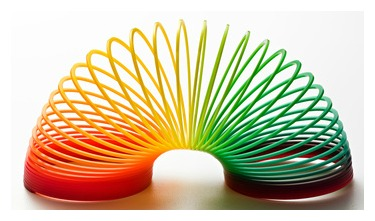 picture of colorful slinky