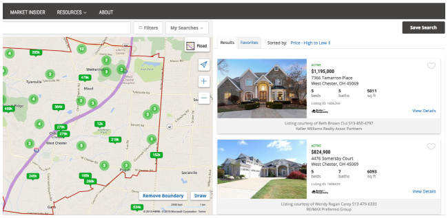 internet search for homes