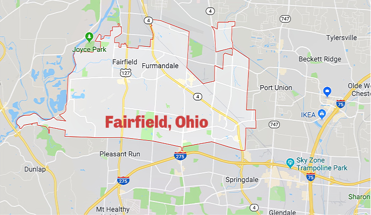 Map of Fairfield Ohio