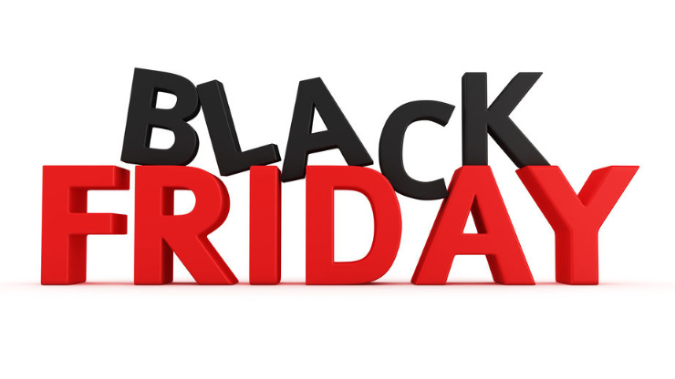 Graphic with Black Friday in bold tyoe