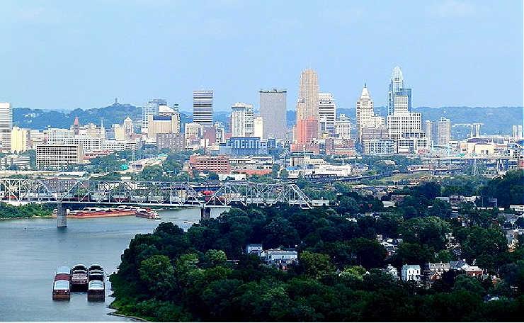 The Cincinnati panorama.