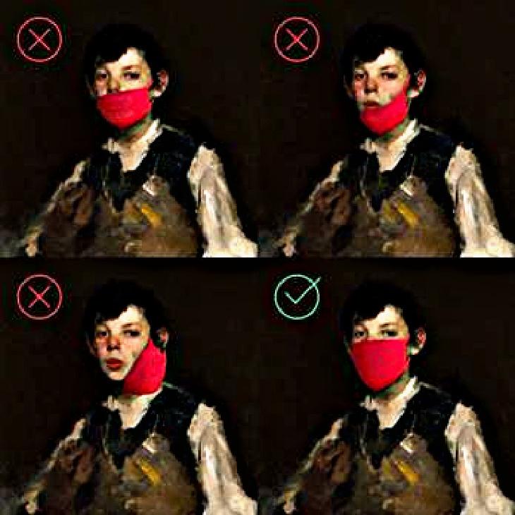 Masked fine art from Art Museum