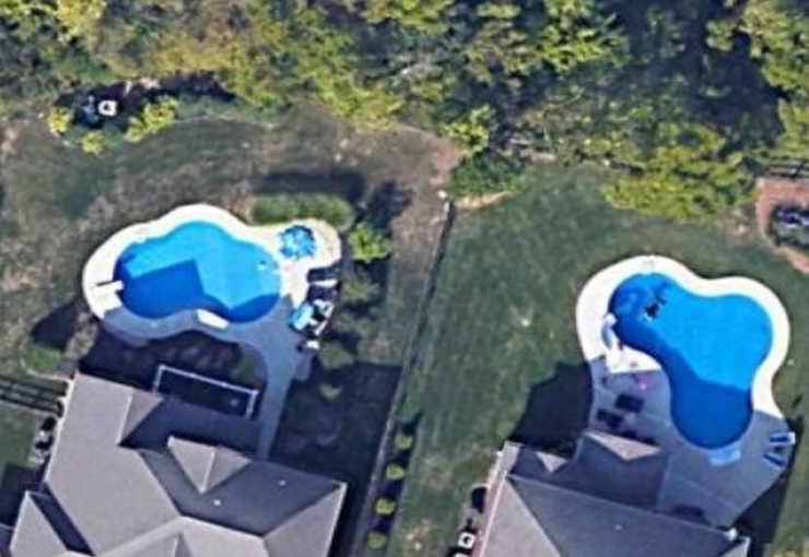google map view of backyard pools