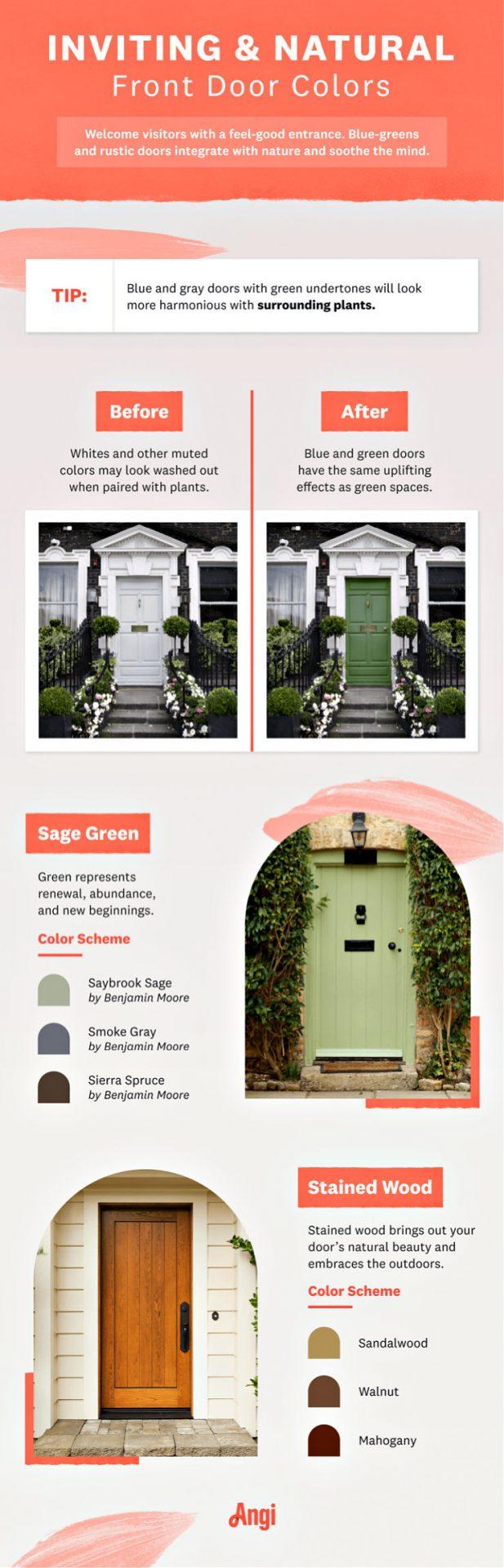 infographic on door colors