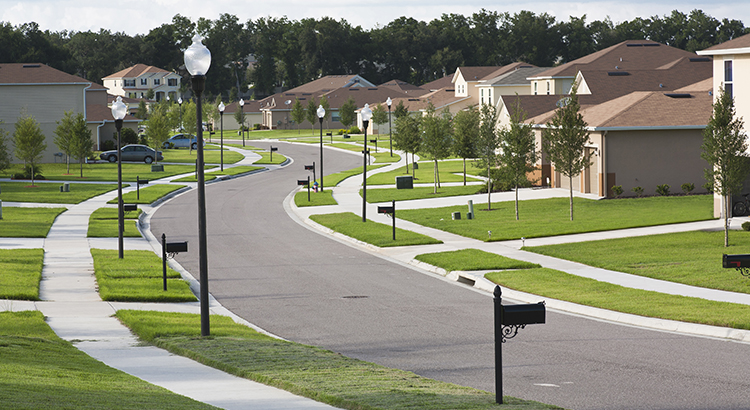 photo of suburban street