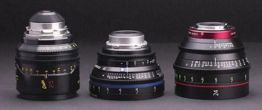 Cooke Mini S-4i • Zeiss CP.2 Compact Prime • Canon CN-E Prime