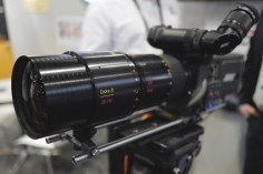 Cooke showed their new powerhouse anamorphic zoom as well. In stark contrast to other anamorphic zooms out there - this is a proper, true 2x front internal anamorphic with loads of classic character.