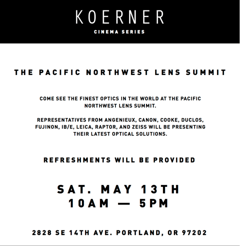 The Pacific Northwest Lens Summit
