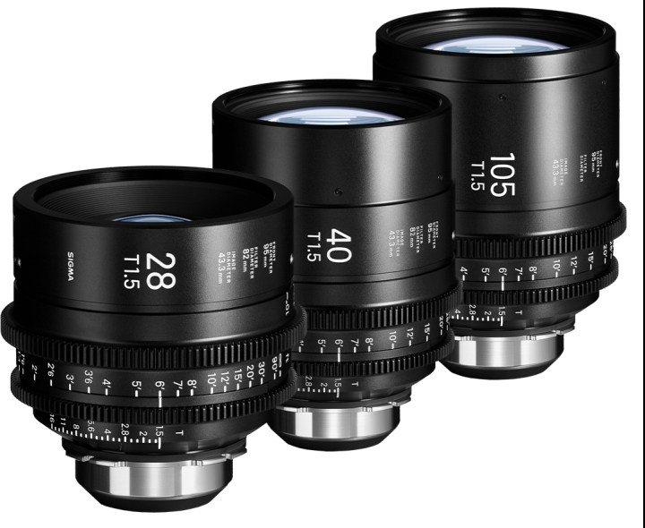 SIGMA Adds 28, 40, and 105mm High Speed T1.5 Primes to Cine Lineup