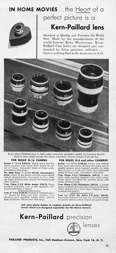 1949 ad scanned by steevithak - camera-wiki.org