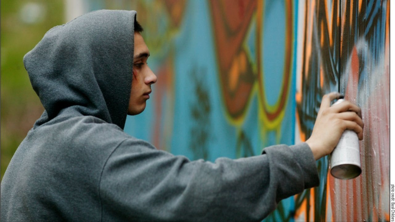 Still from The Graffiti Artist