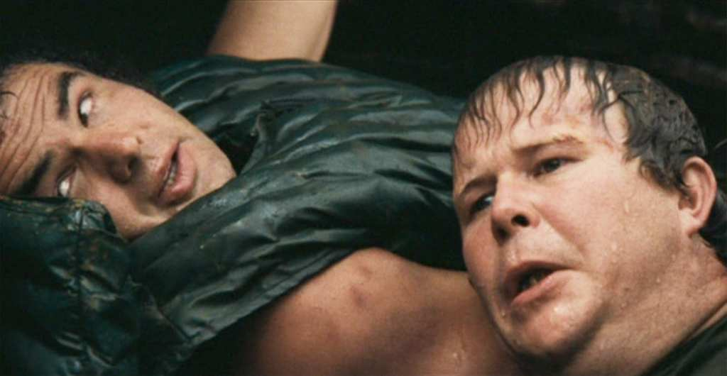 Burt Reynolds and Ned Beatty in Deliverance