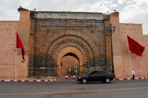 Bab Agnaou, the most famous city gate in Marrakeck