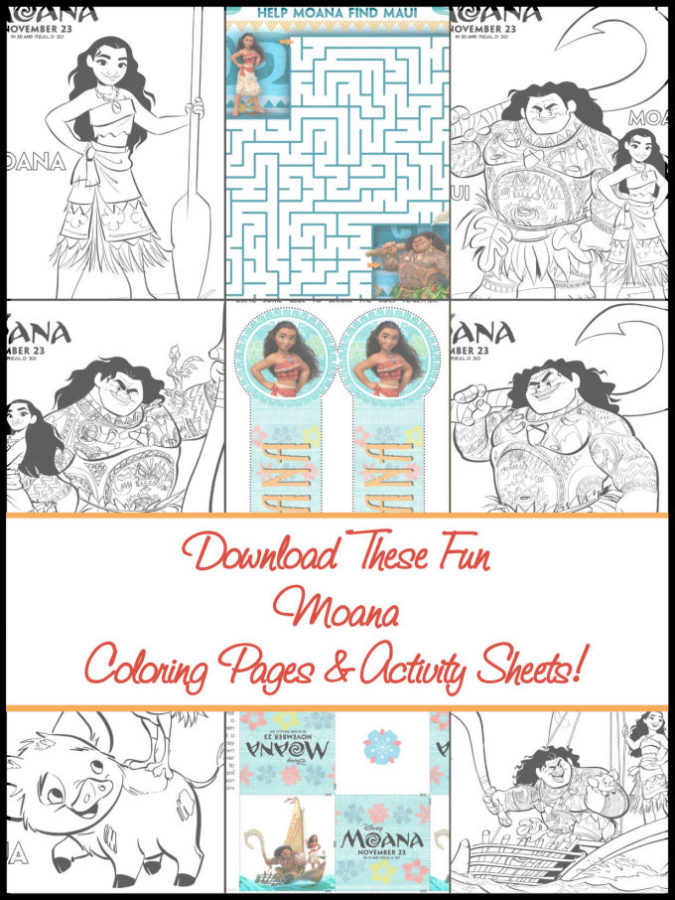 download these fun moana pages