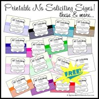 Download These Free Printable No Soliciting Signs
