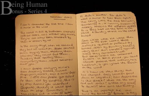 Extrait du journal d'un inconnu : le futur est sombre ! - Being Human Series 4 Bonus