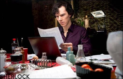 Sherlock en plein boulot...